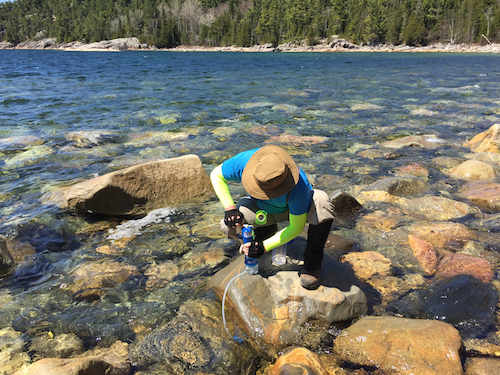 Thompson tested six filters on his backpacking trip, analyzing them from  a water treatment  professional's perspective.