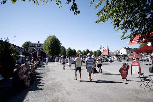 The Swedish island community is a two-hour ferry ride from Stockholm.