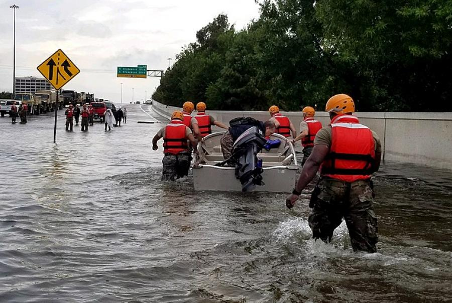 national guard rescue efforts hurricane harvey flooding