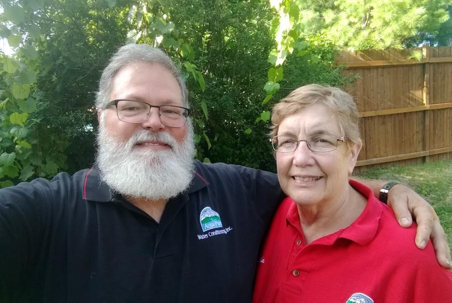 Ronald Gagnon, water treatment dealer, and his wife, Linda Gagnon.